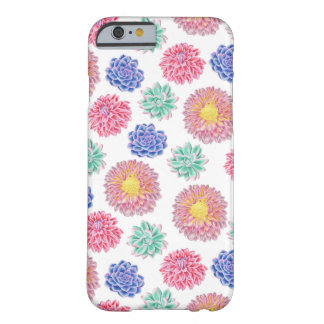 Colorful Spring Flowers Pattern Barely There iPhone 6 Case