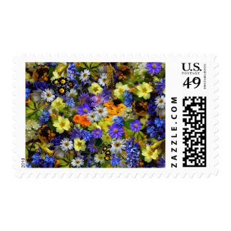 Colorful Spring Flowers Photo Postage