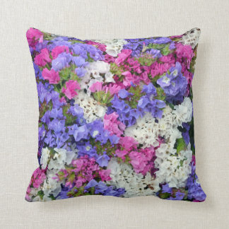 Colorful spring flowers throw pillow