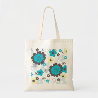 Colorful spring flowers tote bags