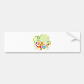 colorful spring flowers vector car bumper sticker