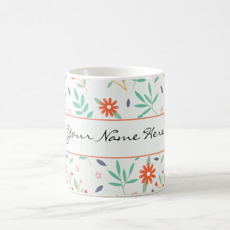 Colorful Spring Flowers Wedding Theme Coffee Mug
