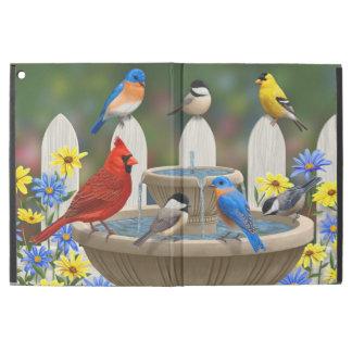 """Colorful Spring Garden Bird Bath iPad Pro 12.9"""" Case"""