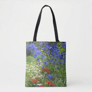 Colorful Spring Garden! Larkspar Blue Tote Bag