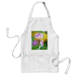 Colorful Spring Iris Adult Apron