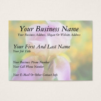 Colorful Spring Iris Business Card