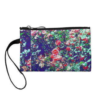 Colorful Spring Rose Bushes Key Coin Clutch