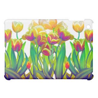 Colorful Spring Tulip Garden iPad Case