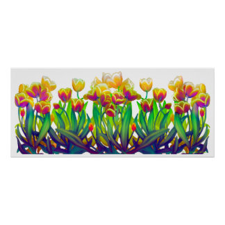 Colorful Spring Tulips Poster