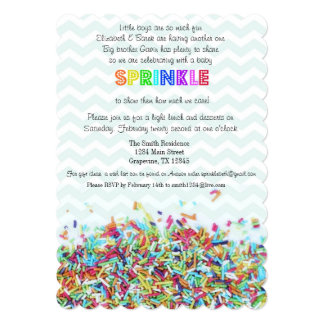 Colorful Sprinkles and Chevron Baby Invite
