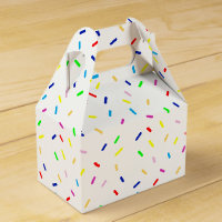 colorful sprinkles favor box
