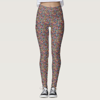 Colorful Sprinkles Multi-Colored Fun Pattern Leggings
