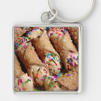 Colorful Sprinkles on Cannoli Keychain