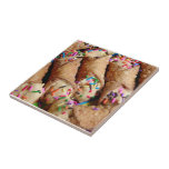 Colorful Sprinkles on Cannoli Tile