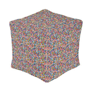 Colorful Sprinkles Repeating Pattern for Children Outdoor Pouf
