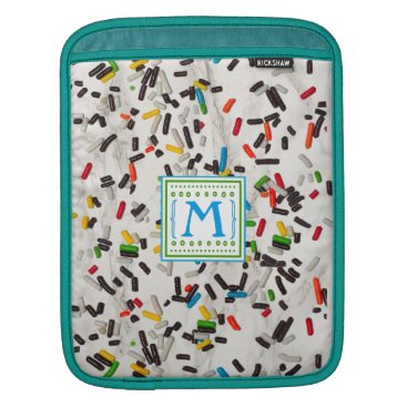 Beach Themed Colorful Sprinkles with Monogram Sleeve For iPads