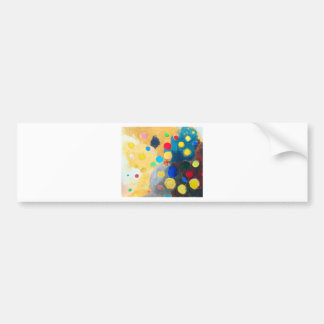 >Colorful Sprites (abstract naive painting) Bumper Sticker