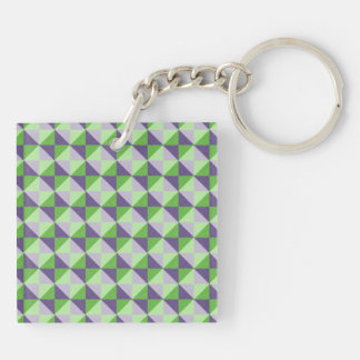 colorful square and triangle pattern keychain