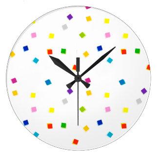 Colorful Square Confetti Clock