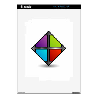 Colorful square decals for iPad 2