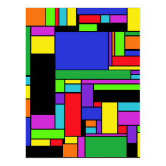 Colorful Square-Off by JaguarJulie Postcard