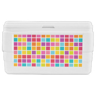 Colorful Square Pattern Chest Cooler