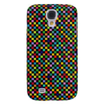 colorful square pattern galaxy s4 cover