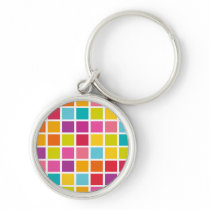 Colorful Square Pattern Keychain
