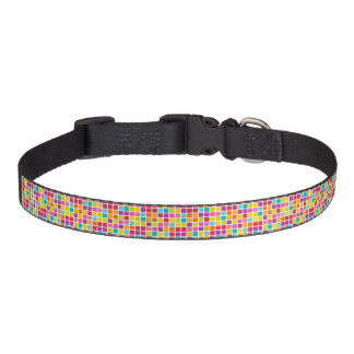Colorful Square Pattern Pet Collar