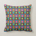 Colorful Square Pattern Pillow