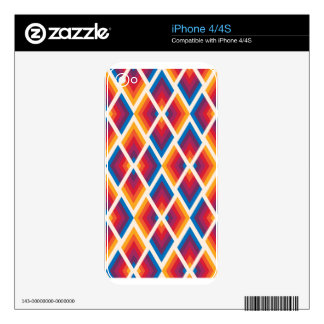 colorful square pattern skins for iPhone 4S
