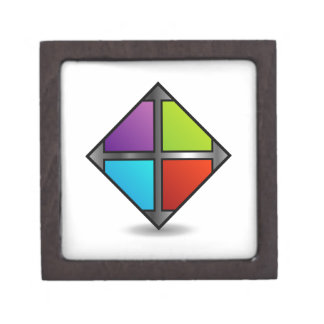 Colorful square premium keepsake boxes
