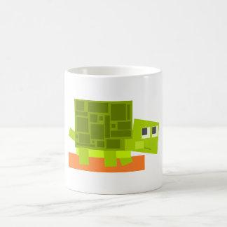 Colorful Square Shaped Green Cartoon Turtle Coffee Mug