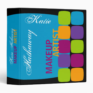 Colorful Squares 1.5 Inch Binder