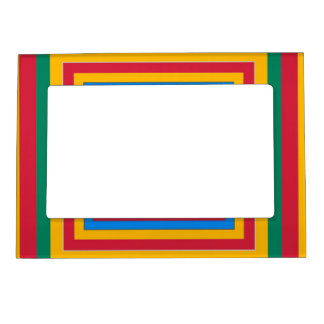Colorful squares abstract design magnetic picture frames