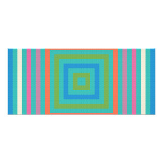 Colorful squares abstract design rack card