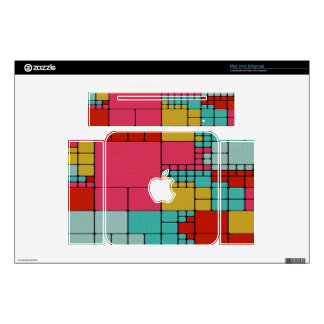 Colorful squares abstract design skin for the mac mini