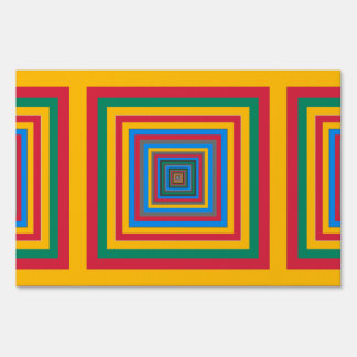 Colorful squares abstract design sign