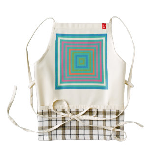 Colorful squares abstract design zazzle HEART apron