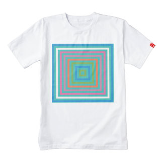 Colorful squares abstract design zazzle HEART T-Shirt