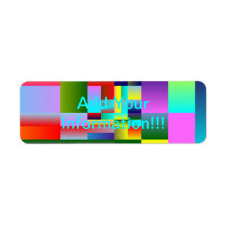 Colorful Squares and Rectangles Label