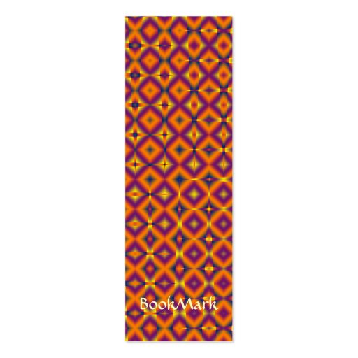 colorful squares  Book Mark Business Card Templates