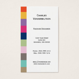 Colorful Squares Business Card