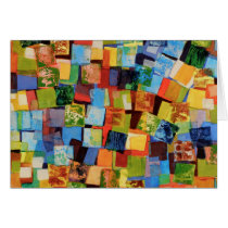 Colorful squares card