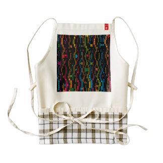 Colorful squares chains zazzle HEART apron