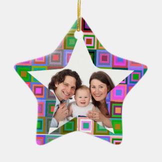 Colorful Squares Christmas Ornament