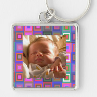 Colorful Squares Keychain