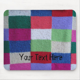 colorful squares knitted traditional patchwork mouse pad