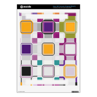 Colorful squares pattern skin for xbox 360 console