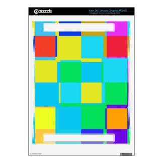 Colorful squares pattern xbox 360 console skin